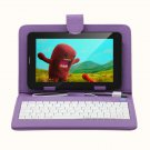 """IRULU 7"""" Tablet PC Android 4.2 2G GSM Phablet 8GB WiFi Dual Cam w/Violet Keyboard"""