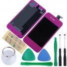 iPhone 4 GSM Touch Screen LCD Display Digitizer Assembly Kit+Back Purple Colour