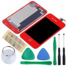 iPhone 4 GSM Touch Screen LCD Display Digitizer Assembly Kit+Back Red Colour