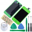 iPhone 4S Touch Screen LCD Display Digitizer Assembly Kit+Back Green Colour