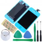 iPhone 4S Touch Screen LCD Display Digitizer Assembly Kit+Back Light Blue Colour
