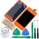 iPhone 4S Touch Screen LCD Display Digitizer Assembly Kit+Back Orange Colour