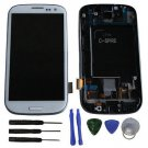 New White Screen Digitizer LCD Assembly Frame For Samsung Galaxy S3 L710 + Tools