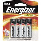 New Energizer AA Alkaline Batteries E91BP-4 Long Lasting 4-Pack Pieces