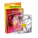 WT WT-120F-RD Red LED 120mm Case Fan with 3/4 Pin Connectors Hydro Bearing