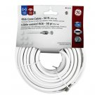 NEW GE RG6 White Coax Cable 50FT - 20639