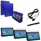 Microsoft Surface Pro 2 / Pro Flip Folio Blue Leather Cover Accessories