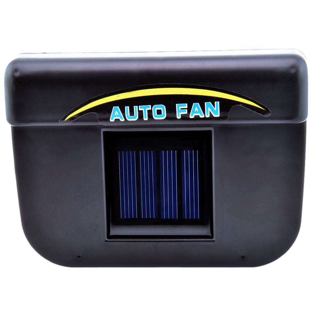 solar powered car auto air vent cool cooler fan radiator with rubber stripping. Black Bedroom Furniture Sets. Home Design Ideas