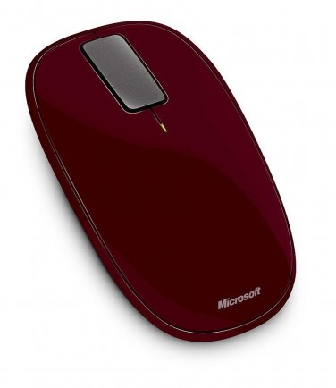 New Microsoft U5K-00003 Explorer Touch Wireless Mouse  - Sangria Red