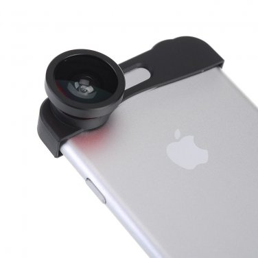 3-in-1 Clip-on Fisheye len + Wide Angle + Macro lens Camera Photo for iPhone 6