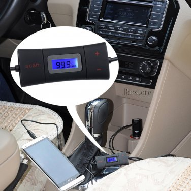 Auto Scan FM Transmitter +USB Car Charger AUX 3.5mm for Samsung Galaxy Note 4 S5