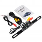 Waterproof Car License Plate Rear View Video Backup Camera,7 LED Night Vision