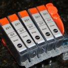 5 Gray Ink Cartridge CLI-221GY for Canon Pixma Photo Printer MP980 MP990 MP640