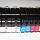 HiYl 3 Black 6 Color 200XL ink for Lexmark OfficeEdge Pro 4000 5000 5500 5500T