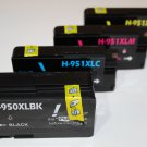 1 Set 4 Ink 950XL 951XL for HP Officejet Pro 8100 8600 Plus Premium, High Yield