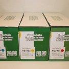 3 Toner Cartridge C M Y CC531A CC532A CC533A HP Printer