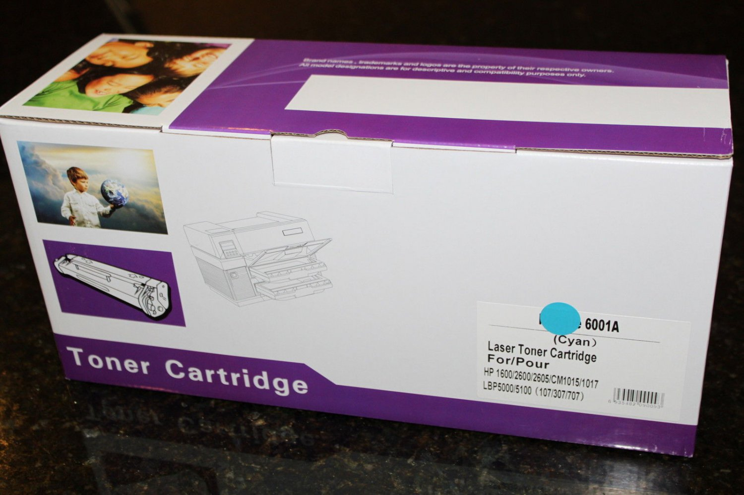 124A Cyan Toner Cartridge Q6001A for HP LaserJet 1600 2600n 2605 CM1015 CM1017
