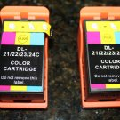 New 2 Color Ink Cartridge T110n for Dell Series 21,24 P513w V313w V515w