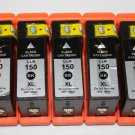 New High Yield Black 5 x Ink Cartridge 150XL for Lexmark S315 S415 S515 Pro715