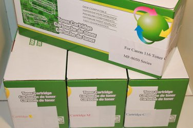 4 Toner Cartridge 116 for Canon All-In-One MF-8050 8080 8040 8030 LBP-5050
