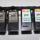2 Black+2 Color Ink Cartridge 43XL 18Y0143 44XL 18Y0144 for Lexmark Printer P350