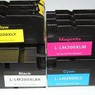 3 Set 12 ink Cartridge 200XL for Lexmark Printer 4000 5000 5500 5500T High Yield