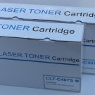 2 Cyan Toner CLT-C407s for Samsung CLP-320 325 CLX-3180 3185 2Series Printer