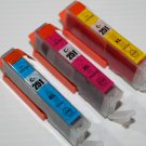 New 3 x Color CLI-251XL Ink Cartridge for Canon Pixma MG-5420 6320 MX-922 722
