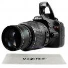 New 2.2x HD Telephoto Zoom Lens for 52MM Nikon D3200 D3100 D3000 D5100 D5000