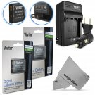 New Battery for Nikon Coolpix S32 S3300 S3500 S4300  2 Pcs EN-EL19 and Charger