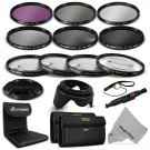 72MM Macro Close Up Set -UV CPL FLD-ND 2 4 8 Filter Kit for Canon & Nikon DSLR