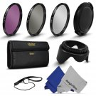 55MM Vivitar UV CPL FLD Filter Kit  Lens Hood for Sony Alpha A55 A58 A77 A7 A7R