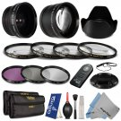 58MM Lens & Filter Kit for Canon Rebel T5i T4i T3i T3 T2i Xti 18-55mm  21 Pcs