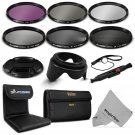 67MM Filter Kit UV CPL FLD+ ND 2 4 8 for Canon EOS 6D 7D 50D 60D 70D 5D Mark III