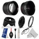 HD Vivitar Lens + Accessories for Panasonic G2 G3 G5 G6 14-42MM 45-200MM