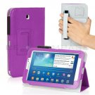 Purple Leather Hand Strap Case For Samsung Galaxy Tab 3 7 P3200 8 T3100 10.1 P5200