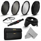 New 62MM UV CPL ND 8 Filter Kit for Tamron 18-250mm 18-270mm and Lens Hood