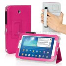 Pink Leather Hand Strap Case For Samsung Galaxy Tab 3 7 P3200 8 T3100 10.1 P5200
