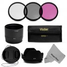 New UV CPL FLD Filter Kit and Lens Hood and Tube for Fujifilm FinePix SL300