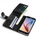 Credit Card Holder Flip Wallet PU Leather Case Cover For Samsung Galaxy S6 Black