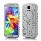 TPU Gel Hybird 3D Bubbles Hard Case Cover For Samsung Galaxy S5 S4 S3 Note 3 White