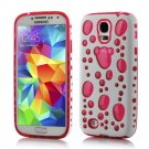 TPU Gel Hybird 3D Bubbles Hard Case Cover For Samsung Galaxy S5 S4 S3 Note 3 Pink