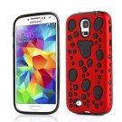 TPU Gel Hybird 3D Bubbles Hard Case Cover For Samsung Galaxy S5 S4 S3 Note 3 red