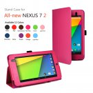 Pink New Google Nexus 7 II 2nd Android TabletPU Leather Case Cover Stand Multi-Color