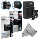 New 2 Pcs NP-FM500H Battery and Charger for Sony Alpha SLT A57 A58 A65 A77 A99
