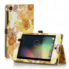 Flower-Yellow New Google Nexus 7 II 2nd Android TabletPU Leather Case Cover Stand Multi-Color