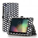 Polka Dot-Black New Google Nexus 7 II 2nd Android TabletPU Leather Case Cover Stand Multi-Color