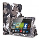"For 2014 Amazon Kindle Fire HD 6""  Folio PU Leather Case Smart Cover Stand camouflage black-gray"