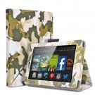 "For 2014 Amazon Kindle Fire HD 6""  Folio PU Leather Case Smart Cover Stand camouflage army green"