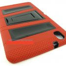 Red Black Rugged Vault Hybrid Case Cover Stand Samsung Galaxy Tab Pro 8.4